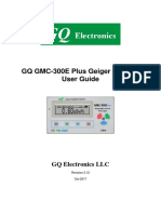 GQ GMC-300E Plus Geiger Counter User Guide