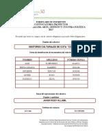 FORMULARIO DE INSCRIPCIÓN SEMINARIO 2017_GRUPO COTA VIVA _GESTORES CULTURALES