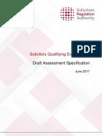 SQE Draft Assessment Specification- June 2017