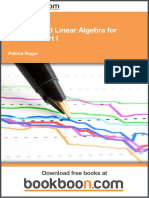 Analysis and Linear Algebra for Finance Part i