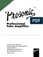 Fender Prosonic Amp Manual