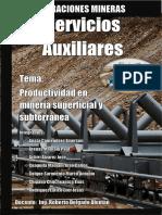Servicios Auxiliares- Desarrollo de Minas Subterranea y Superficial