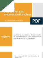 Unidad I- Introducción a Las Matematicas Financieras