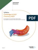 SYllabus for Igcse 1234