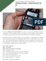 Código _q_ Internacional, Comunique-se Corretamente