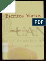 Escritos Varios Abelardo Leal Leal