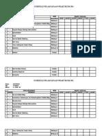 Schedule Praktikum Ipa