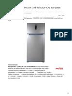 Réfrigérateur CONDOR CRF-NT52GF40G 390 Litres NoFrost Silver