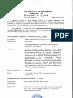 Advt for Project Coordinator&Accounts Executive 16.04.2018