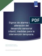 Signos de Alarma en La Alteración Del Desarrollo Sensorial Infantil V1.0