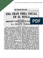 El Tiempo (1937, 12 de Julio) - Una Gran Obra Social en El Huila