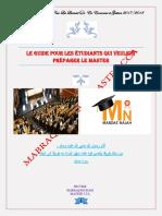 Le Guide Pour Les Étudiants Qui Veulent Préparer Le Master