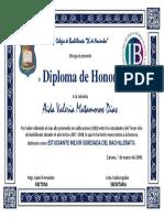 Diploma Mejor Egresada