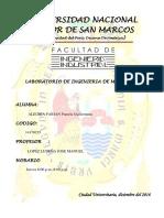 Informe Final de Laboratorio de Materiales FII -UNMSM