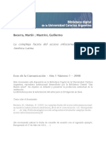 La Compleja Faceta Acceso Infocomunicacional