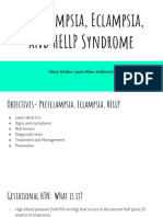 preeclampsia eclampsia and hellp syndrome