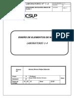 diseño de maquinas y elementos, lab. informe mensual 1 .tecsup