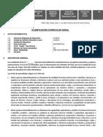 Taller Planificación Curricular Anual Educandas 2018