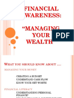 Resource Speaker- Financial Awareness