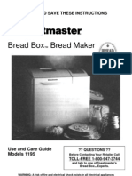 Toastmaster Breadbox Model 1195