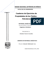 Cuaderno de Ejercicios de Propiedades de Los Fluidos Petroleros