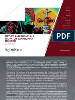 HAYNES AND BOONE, OIL PATCH BANKRUPTCY MONITOR March 31, 2018