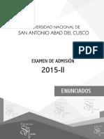 Examen 2015-II Unsaac Cusco