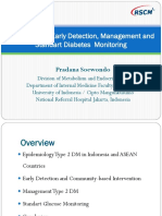 Epidemiology, Early Detection, Management and Standard Diabetes Monitoring