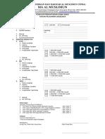 Formulir PPDB MA AL MUSLIMUN KAWISTOLEGI TP. 2018/2019