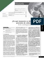 Provision de Cobranza Dudosa 2015