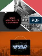 Week 10 - Basic Approach of Leadership