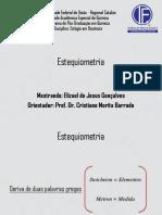 Aula de Estágio - Estequiometria