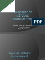 Calibração de Métodos Instrumentais