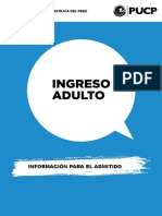 Manual Del Admitido Ingreso Adulto 2016-2 PUCP