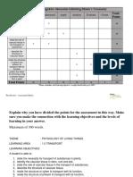 Assessment Matrix Template
