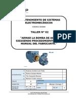 T 02 G Armar La Bomba de Agua Siguiendo Procedimientos Del Manual Del Fabricante. (Reparado)