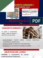 CLASE 01 Presentacion de Silabo CA-I