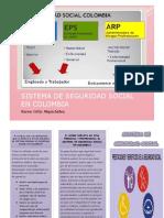 Folleto- Seguridad Social de Colombia Karen Ortiz