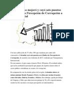Colombia no mejoró y cayó seis puestos en Índice de Percepción de Corrupción a nivel mundial.docx