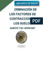 DETERMINACIÓN DE LOS FACTORES DE CONTRACCION DE LOS SUELOS