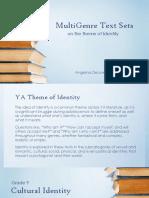 MultiGenre Text Sets