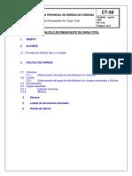 Criterios Para El Calculo de Presupuestos de Carga Total
