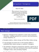 Optimized quantum f-divergences
