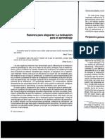 Evaluación Para El Aprendizaje Gordon Stobart (2010) Cap 7