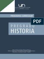 Programa Curricular Historia UNAL Medellín