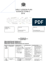 Science f3 Yearly Lesson Plan 2018