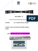 1st Distance Evaluation b4 - September