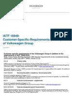 Volkswagen Group CSR IATF 16949 Jan 2018