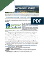 Pa Environment Digest April 23, 2018