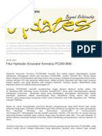 √√√√Arti Kode 'I' & Fitur Hydraulic Excavator Komatsu PC200-8M0